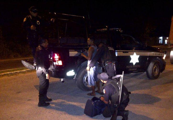 A raíz del enfrentamiento se incrementó la vigilancia en el fraccionamiento Flamboyanes de Progreso. (SIPSE)