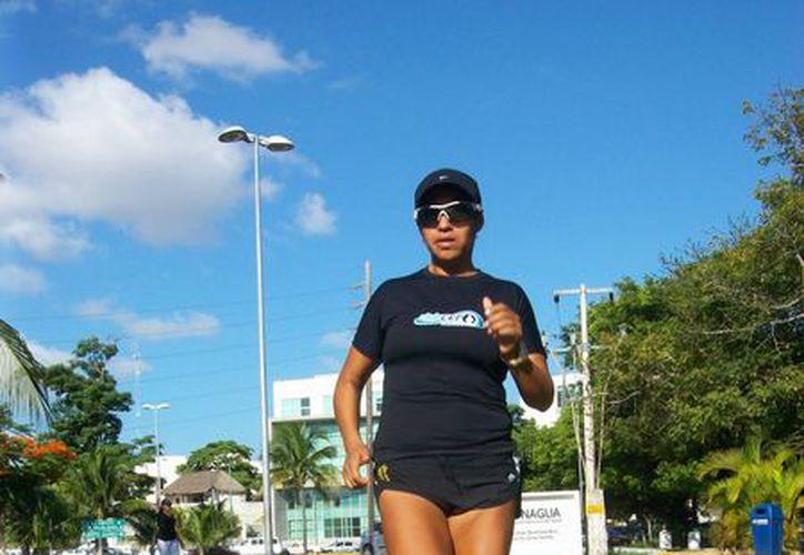 Raquel Córdova Meneses está acostumbrada a las largas jornadas de entrenamiento. (Raúl Caballero/SIPSE)