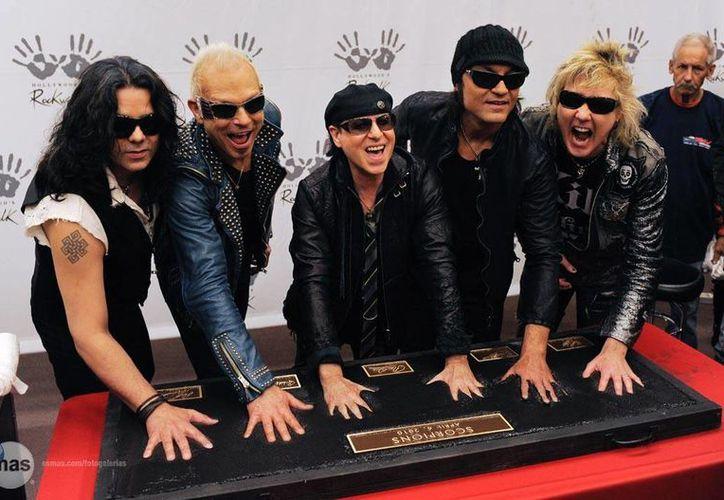 Scorpions estará visitando tierras aztecas en su cumpleaños 50. Los metaleros se presentarían en la Arena Monterrey (1 de junio), Arena Ciudad de México (3 de junio) y Auditorio Telmex de Guadalajara (4 de junio). (Archivo AP)