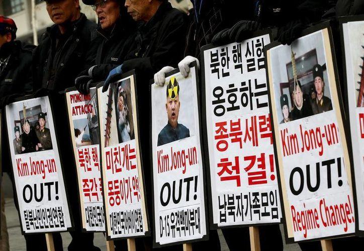 Las protestas publicas se han dejado sentir en todo el mundo por en ensayo nuclear de Corea del Norte (EFE)