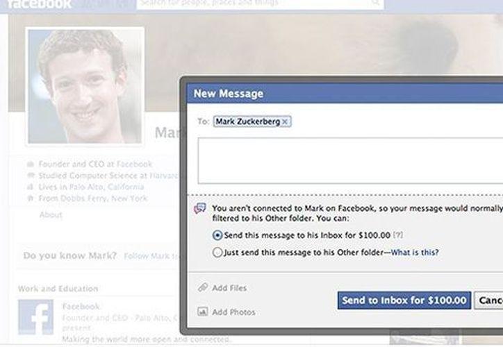 El mensaje llegará a la bandeja principal del fundador de Facebook, saltándose la de spam. (Foto: Facebook)