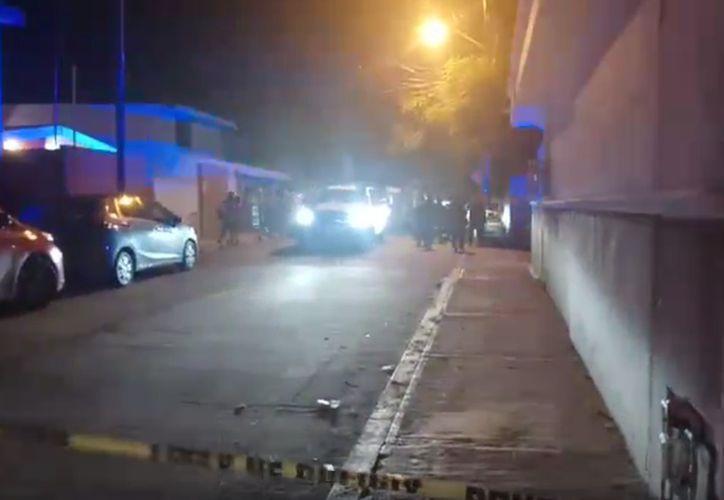 La policía acordonó el área cerca de La Rehoyada. (Redacción/SIPSE)