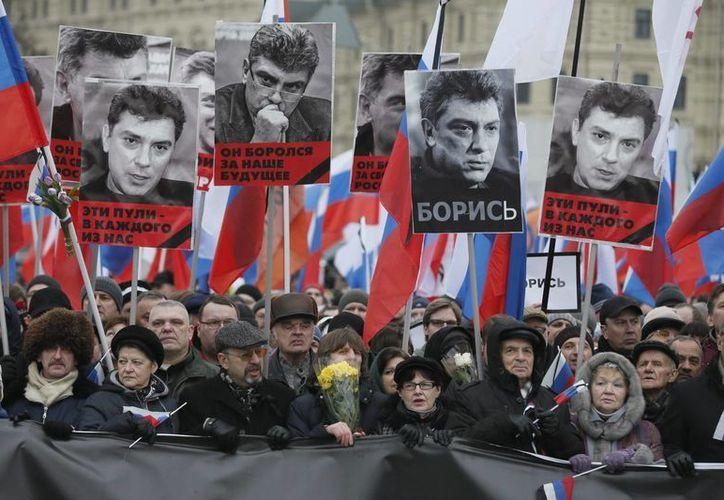 La marcha en el centro de Moscú transcurrió sin incidentes. (EFE)
