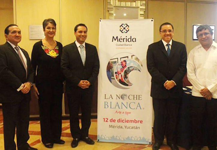 El alcalde de Mérida, Mauricio Vila Dosal, presidió en la Ciudad de México la presentación de la quinta edición del programa 'La Noche Blanca'. (Foto cortesía del Gobierno)