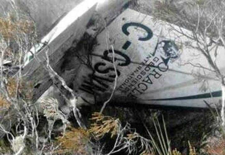 Imagen de la avioneta localizada en Colombia. (@Br1Ejc/VANGUARDIA LIBERAL)