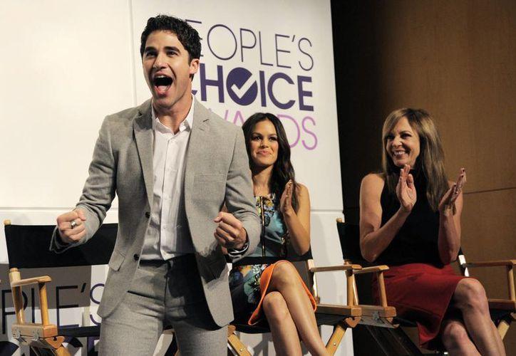 """Darren Criss, miembro de """"Glee"""" que estuvo presente en la ceremonia de anuncio de las nominaciones a los premios, no pudo ocultar su felicidad al escuchar las postulaciones. (Agencias)"""