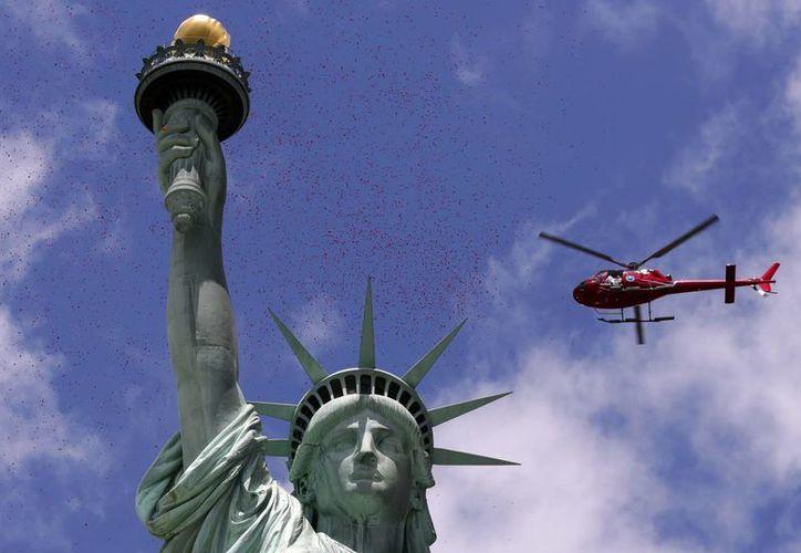 La Estatua de la Libertad fue un regalo de Francia a EU en agradecimiento por su apoyo durante la II Guerra Mundial. (AP)