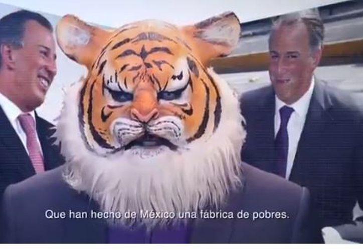 El tigre del spot hace referencia a lo que López Obrador advirtió en caso de un fraude electoral. (Captura)