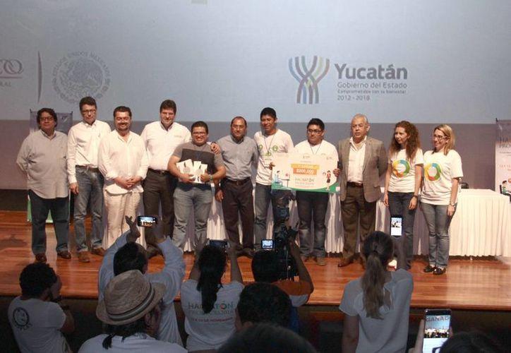La ceremonia de premiación del Hackatón Profeco tuvo lugar en la sala Mayamax del Gran Museo del Mundo Maya de Mérida. (Milenio Novedades)