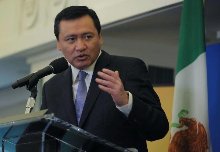 Osorio Chong resaltó la cifra de 17 por ciento en la disminución de las muertes violentas en México. (Notimex)