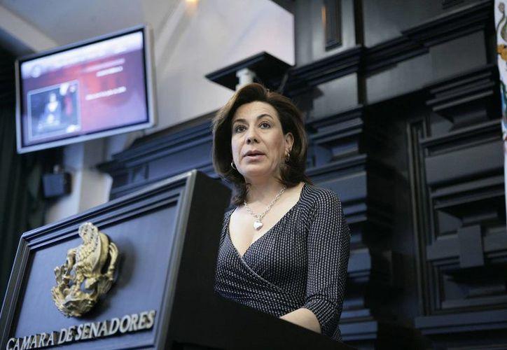 Lorena Martínez Rodríguez, nombrada por el presidente Enrique Peña, asumió este jueves el cargo de directora de la Profeco. (comunicacion.senado.gob.mx)