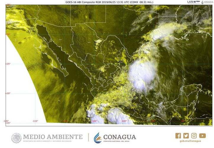 El SMN apuntó que los desprendimientos nubosos del meteoro originarán lluvias. (SMN)