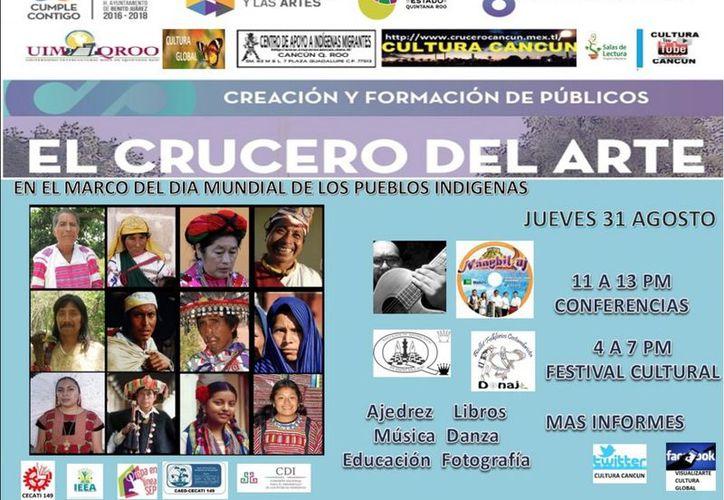 En el marco del Día Internacional de los Pueblos Indígenas, se realizará el 31 de agosto la octava edición del Festival cultural. (SIPSE)