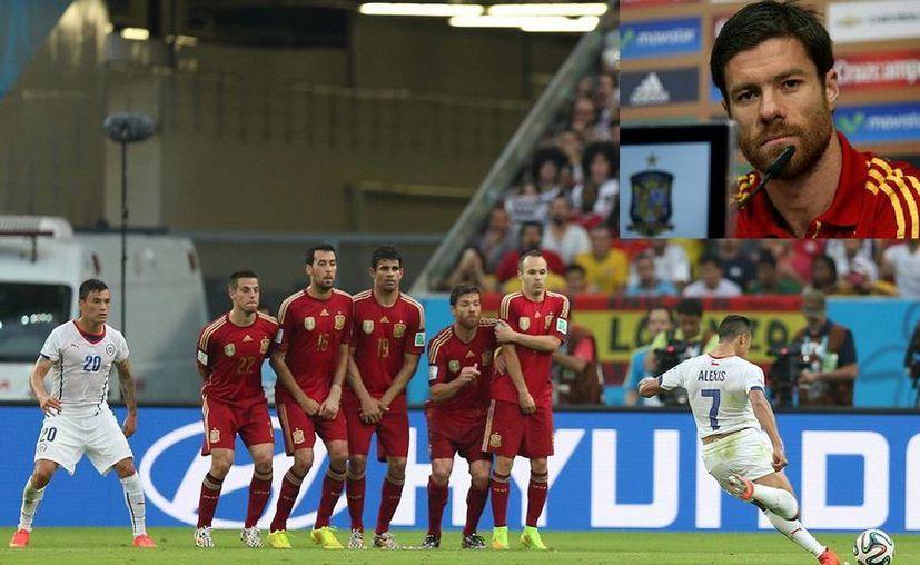 Xabi Alonzo ganó dos Eurocopas y un Mundial, pero en Brasil 2014 no pudo más que llevarse amarguras al quedar España eliminada en fase de grupos. (Fotos: Notimex y EFE)