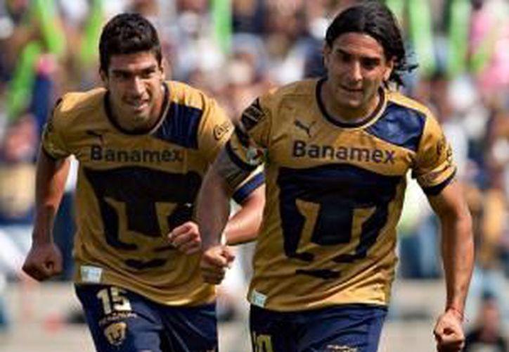 Luis Fuentes, Marco Antonio Palacios y el argentino Martín Bravo anotaron por los Pumas. (Milenio)