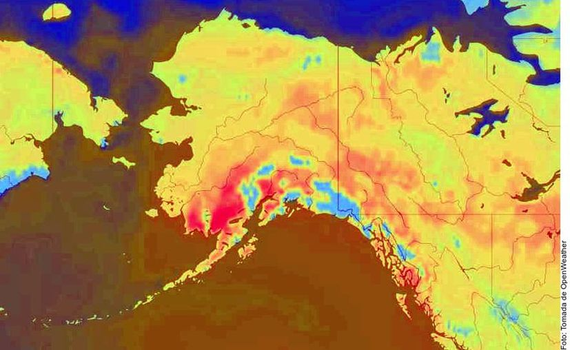 La ciudad de Anchorage, en Alaska, registró una temperatura récord de 32 grados centígrados, la más alta en 100 años. (Agencia Reforma)