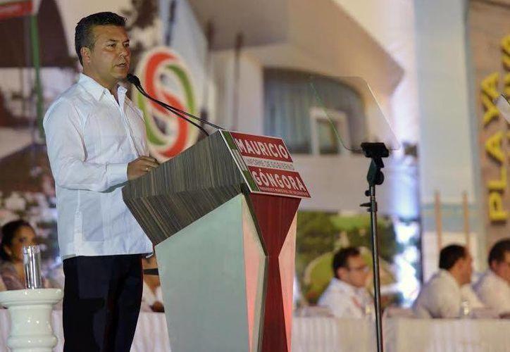 Mauricio Góngora Escalante rindió su segundo informe de gobierno como presidente de Solidaridad. (Redacción/SIPSE)