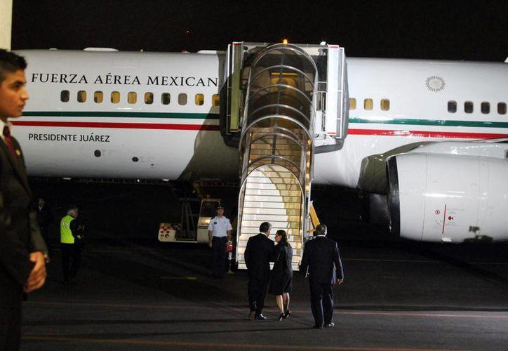 El nuevo avión llegaría a mediados de diciembre, pues es el acuerdo que se tiene con autoridades del Estado Mayor Presidencial. Imagen de la actual aeronave oficial en uso llamada Presidente Juárez. (Archivo/Notimex)