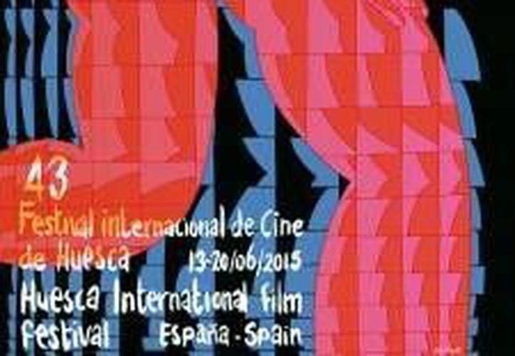 Imagen del cártel de este 2015 del Festival Internacional de Cine de Huesca que se llevará a cabo del 13 al 20 de junio en España. (huesca-filmfestival.com)