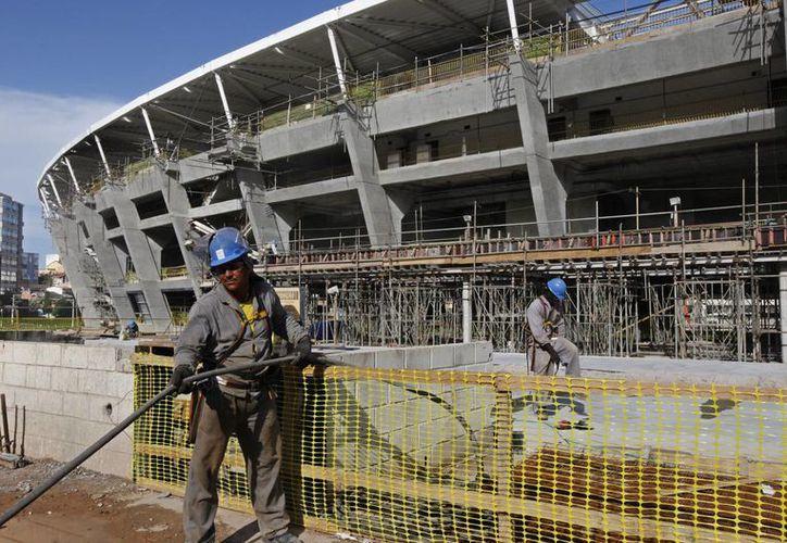 Imagen de las afueras del estadio Arena Fonte Nova en Salvador, Brasil. (EFE/Archivo)