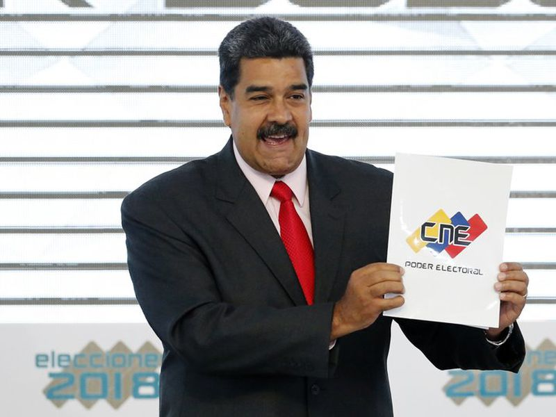 Trump considered Maduro moved Venezuela into a dictatorship. (AP)