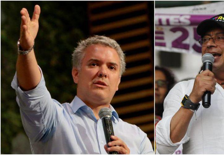 Iván Duque logró 39.11% de los votos; Gustavo Petro, 25.09%. (El Tiempo)