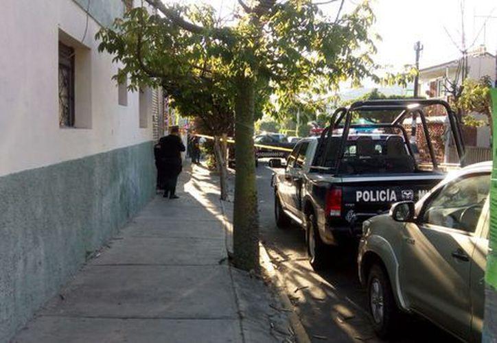Una camioneta con cadáveres fue abandonada. (Jorge Martínez/Milenio)