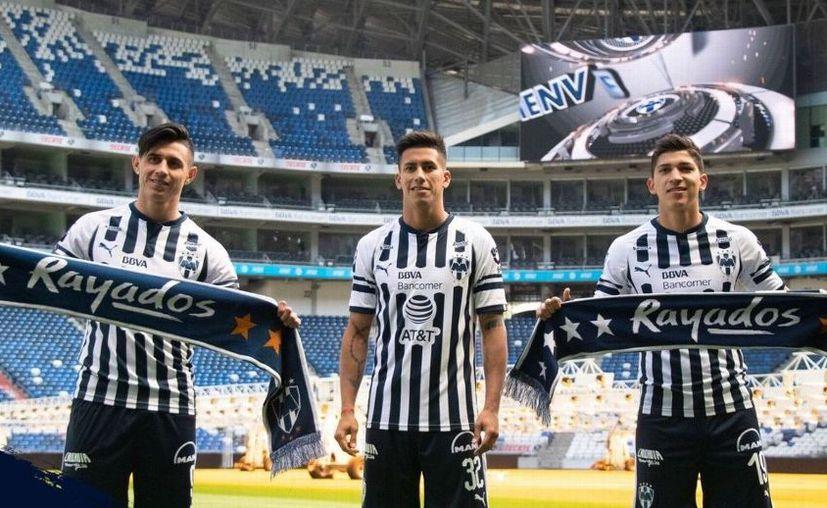 Adam Bareiro, Maxi Meza, Ángel Zaldívar, refuerzos de Rayados para el Clausura 2019. (Foto: Club Monterrey)