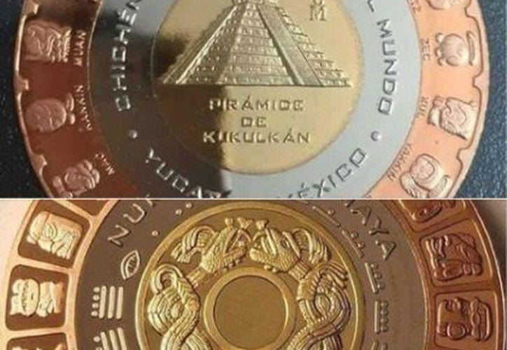 El peso de la moneda es de 52.304 gramos y el acabado en satín con campos en contraste. (Casa de la Moneda)