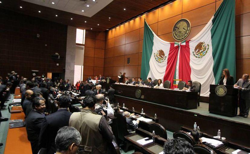 La sesión en San Lázaro este lunes duró poco más de tres horas. (Notimex)