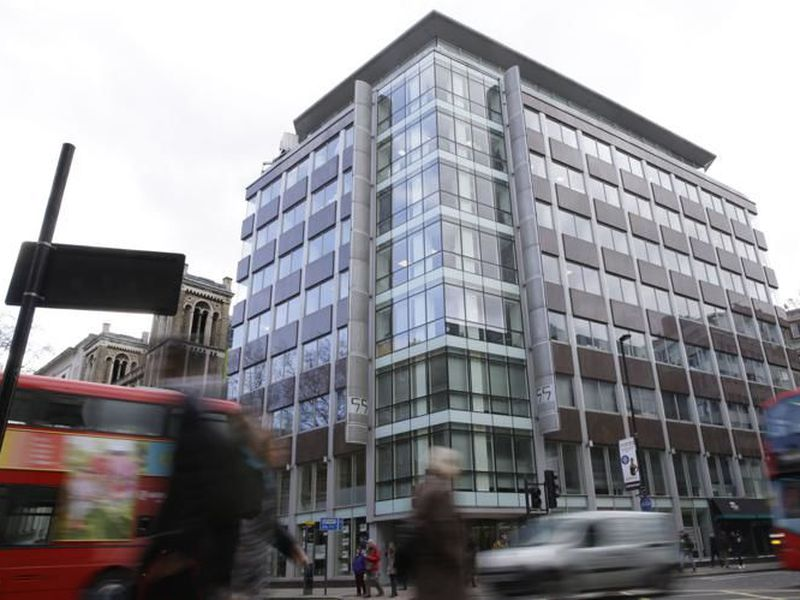 A general view of the building in central London that contains offices of social analysis company Cambridge Analytica.