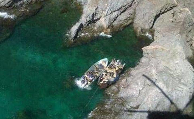 La Armada de México avistó dos embarcaciones sospechosas al sur de Puerto Libertad. (Semar)