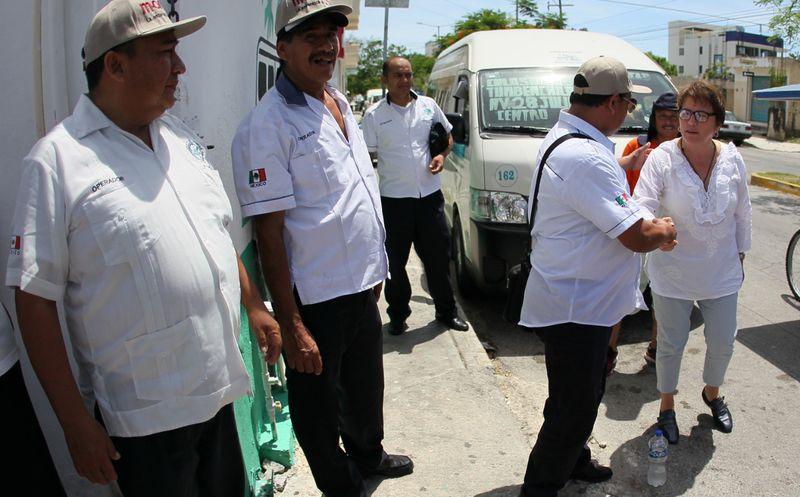 Durante todos los días de su campaña, la candidata Laura Beristain recorrió las calles del municipio. (Foto: Redacción/SIPSE)