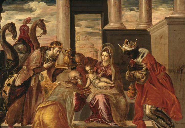 'Adoración de los Reyes Magos', obra de El Greco pintada probablemente en 1568 o 1569 y que se conserva en el Museo Soumaya de la Ciudad de México. (Archivo/Agencias)