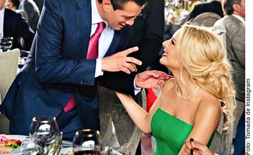 Sobre su relación con Peña Nieto, en una entrevista que concedió al diario Reforma, Tania Ruiz describió al exmandatario como un hombre guapísimo y un gran conversador. (Agencia Reforma)