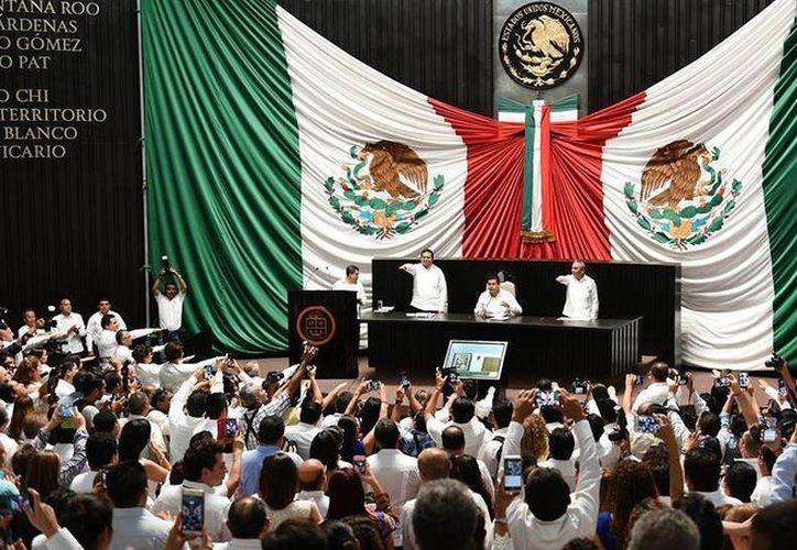 Eduardo Martínez Arcila fue elegido como presidente de la Gran Comisión. (Congreso del Estado de Quintana Roo/Facebook)