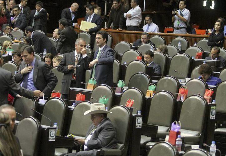 Aspecto de la Sesión Ordinaria de la Cámara de Diputados.  (Notimex)