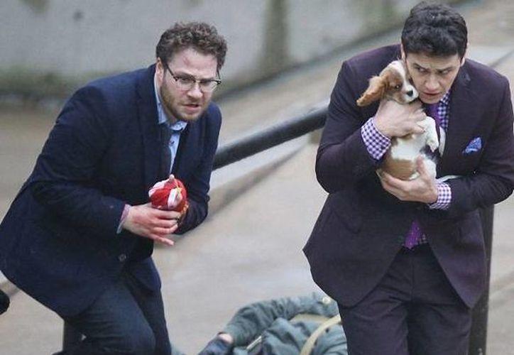 Escena del polémico filme The Interview, que es protagonizado por James Franco. (dailymail.co.uk)
