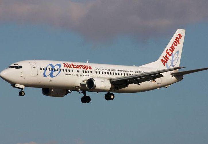 Air Europa dijo nunca haber emitido un comunicado sobre la cancelación de sus vuelos. (Redacción/SIPSE)