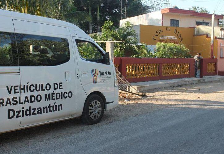 El templo donde es 'pastor' el doctor Leopoldo Magaña Aguilar está ubicado en Dzidzantún. (SIPSE)