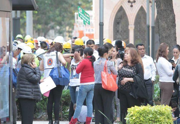 Habitantes de la ciudad de México, se resguardaron en zonas de seguridad ante el sismo ocurrido la tarde del 27 de junio de 2016. (Archivo/Notimex)