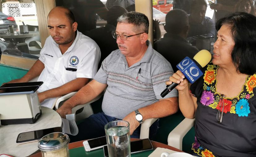 """Los representantes de los ejidos dijeron que cuentan con los """"durmientes"""" necesarios para la ruta del tren. (Paola Chiomante/SIPSE)"""