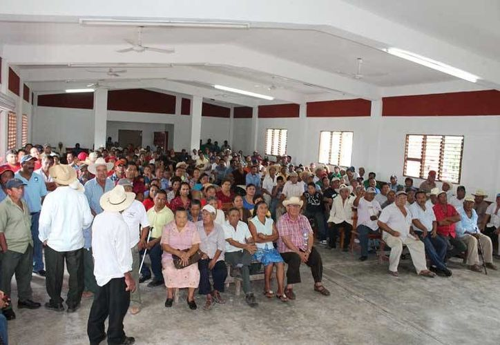 Las nuevas autoridades se comprometieron a continuar buscando los beneficios para el núcleo agrario. (Edgardo Rodríguez/SIPSE)