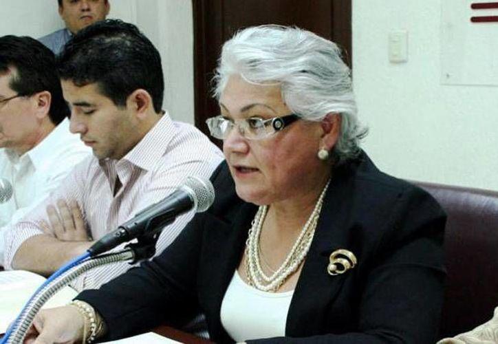 La nueva delegada del ISSSTE en Yucatán, Leticia Mendoza. (Archivo)