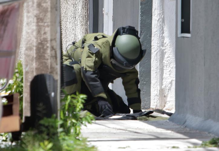 La granada fue neutralizada por elementos especializados en explosivos luego de permanecer más de 12 horas en el sitio. (Redacción/SIPSE)