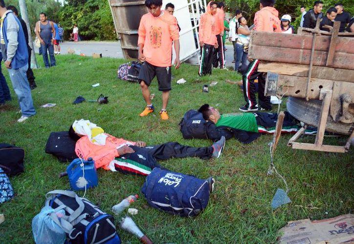 El accidente ocurrió el pasado lunes nueve en una carretera de Campeche. (Milenio Novedades)