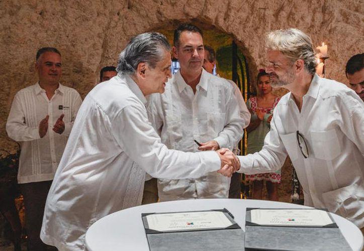 Miguel Quintana Pali, Dino Troni e Ignacio Manzanilla. (Novedade Yucatán)