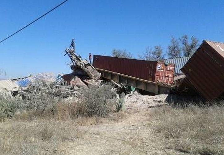 El tren y los vagones se dirigían del Estado de México a Guanajuato. (Milenio)