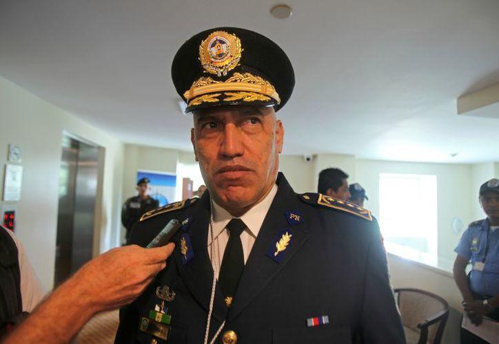 El director nacional de la Policía de Honduras, comisionado general Juan Carlos Bonilla. (EFE)