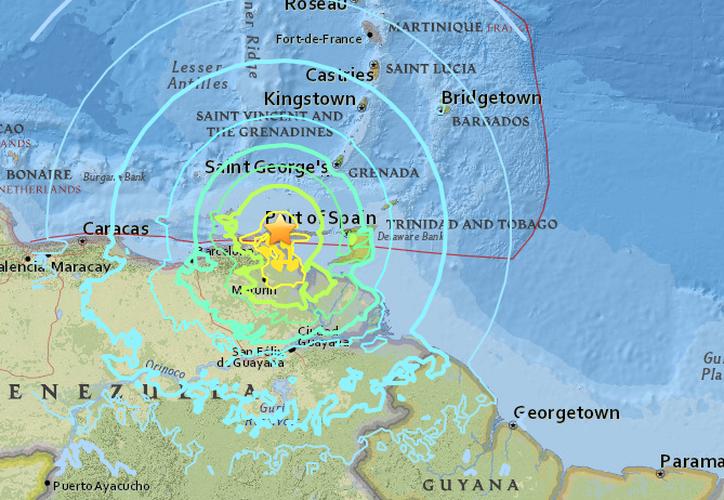 El movimiento telúrico también se sintió en diferentes regiones de Colombia. (USGS)